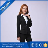 anti-shrink high quality wool/polyester suit for women