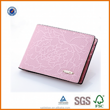 2016 popular top layer customized the embroidery printing pu/genuine leather woman wallet/purse/hand bag