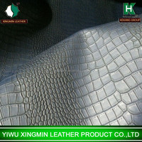 Antique Shiny Crocodile pu leather for bag