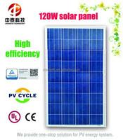 High efficiency polycrystalline silicon 120W solar panel