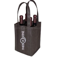 Recycle bag for wine non woven bottle bag