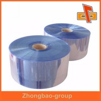 China manufacturer POF/PET/PE/PVC heat shrink film /clear heat shrink plastic film in roll