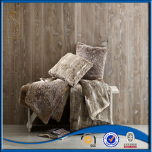 Famous brand in cooperation high quality with cheap price faux fur blanket