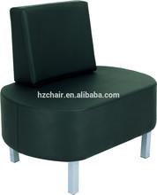 2015 cómodo y de moda negro sillas de recepción para el hotel, aeropuerto, Salon