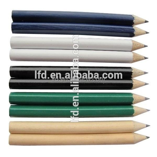 Colorful wood/plastic custom golf pencil