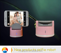 2015 Palm Size Supreme Quality ABS+PC Selfie Robot With Bluetooth Shutter Button 360 selfie robot in multi sence