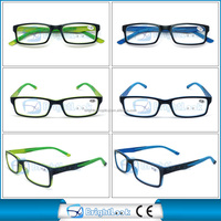 Fashion reading glasses,rubber reading glasses with double injection eyewear