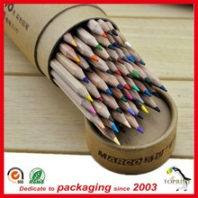 wholesale custom printed fancy paper pen container raw kraft tube box with rolled edge top quality biodegradable cardboard tube