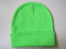 Emerald Green Warm Beanie Hat For Boys Men