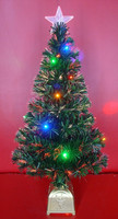 Hand-made Led Fiber Optic Christmas Trees with or without Decorations