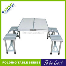 Folding Picnic Table Aluminum Table with Chairs Hot Popular Folding table for camping DA1101