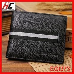 Genuine Leather male men short wallet custom logo soft business men's purse
