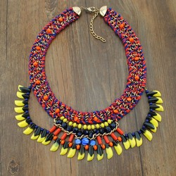 silicone teething necklace choker bead statement necklace