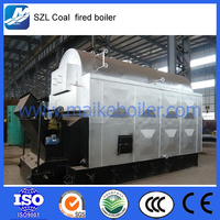 automatic chain grate rice husk wood biomass fuel 10 ton coal fired steam boiler