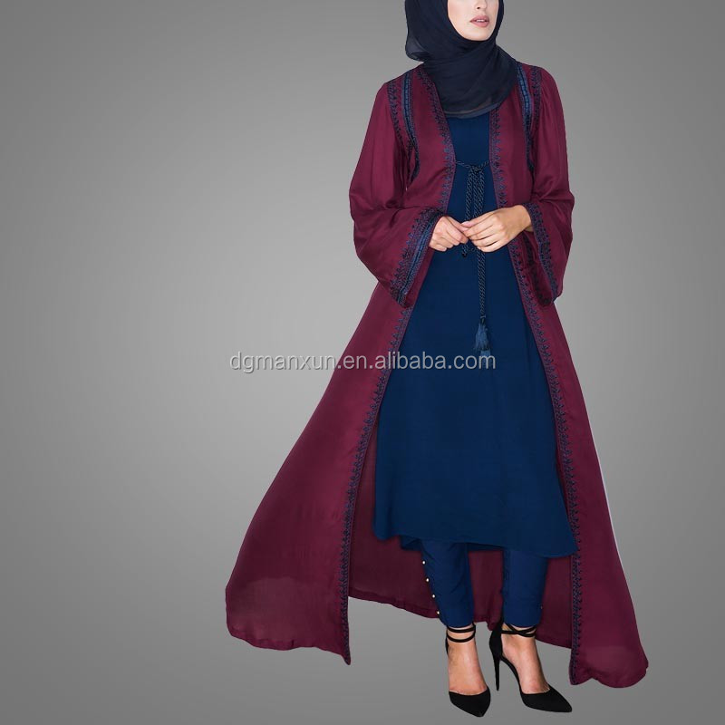 New Burqa Designs In Dubai Photo Long Kimono For Women Tudung Maxi Dress Of Dubai (2).jpg