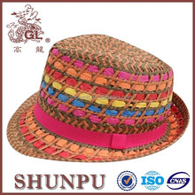 New style colorful paper hat paper straw beach children paper hat