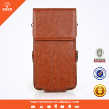 PU leather cell phone case for samsung s6