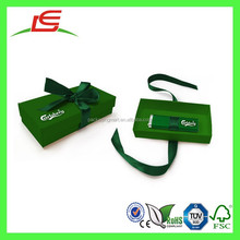 Q1499 Shenzhen Manufacture Wholesale Green Custom Printing USB Packaging With Ribbon For Gift