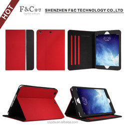 High quality 7.9 inch color combination pu leather case,multiple viewing angles design for ipad mini 3 leather case