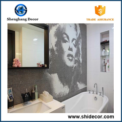 Mosaic wall art glass mosaic tile for decorative house mosaic wall tiles