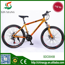 26 inch 21speed high quality double disc brakes aluminium alloy frame MTB bike,