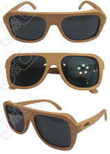 2015 best selling and fashionable christmas ornament bamboo sunglasses with polarized lens and bamboo whosales case