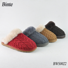 2015 new winter woman plush real sheepskin slipper