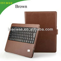 7inch business man style waterproof leather case with built-in bluetooth keyboard