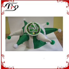 Ireland green and white jester St. Patricks hat