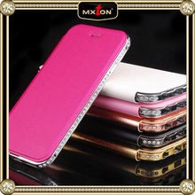High Quality Set Drill Luxury Pure Leather Flip Wallet Case For Iphone 5