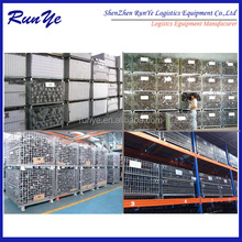2014 hot sold foldable wire container Industrial Logistic Cart with castor