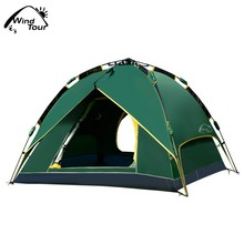 Double Layer 4 Season Automatic Instant Dome Tent For 3-4 Person Outdoor Camping Activities