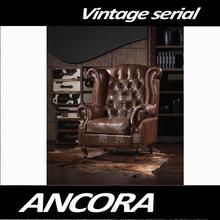 vintage aviator leather club chair K613