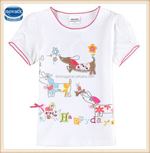 2-6y (K6102) 2015 nova kids girls wear tshirts summer baby clothes fashion designs tshirts lovely child tshirts