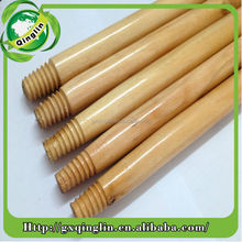 Factory price eucalyptus varnished wood handle for mop and broom