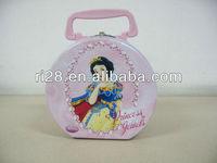 Handbag shaped tin case for girl