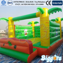 Tropical Inflatable Bouncer Yellow Inflatable Bouncer Bouncers Inflatables