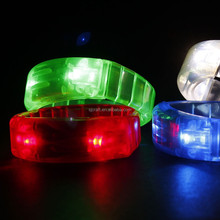 Light UP Motion Or Sound Activated LED Bracelet For Promotional Gift, Pubs, Concert, Holidays, Night Racing Or Party Usa SJ-LW06
