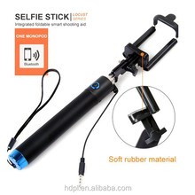 2015 Factory Supply battery free wired selfie stick cable monopod with remote button selfie stick with cable monopod new items