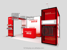 Aluminum profile system exhibition booth design and building services for trade show