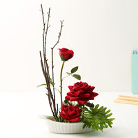1 set high-end red artificial roses flowers home decoration silk flowers artificial flowers for wedding decoration wholesale