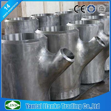 carbon steel three way wye type reducing tee tube connector