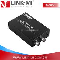 LINK-MI LM-SAV1 Audio Video SD/HD/3G BNC SDI to RCA AV/CVBS Scaler Converter Over AV Cable For HDTV