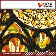 3mm,4mm,5mm China supplier Flower decorative stained glass for church window, home decor,villa with 3C/CE/ISO Certificate