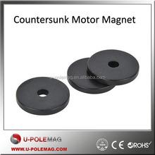 Black Epoxy Countersunk Motor Magnet