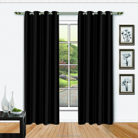 NEW ARRIVAL 100%Polyester Blakcout window curtain in Solid color