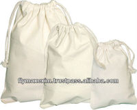 Fashion Recycled Organic Cotton drawstring bag