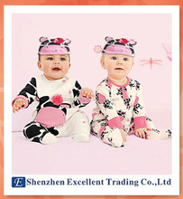 Adorable cartoon cows baby romper 2 designs baby jumpsuit for girls good quality baby clothes
