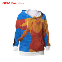 Bright colored cheap plain thick pullover hoodies