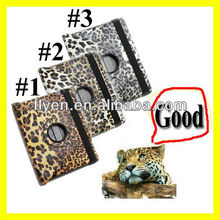 For The New iPad 4 3 2 Leopard Rotating Magnetic Leather Case Stylish Smart Cover Wholesale Cheap Lot Cases Covers 3 colors 1